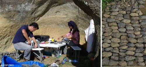 Figure 3: Documentation and XRF analysis of the 'toki' by Rafael and Vaiheri (Photographs by CF).