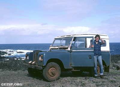 Jo Anne Van Tilburg and rented Land Rover.