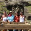 Field participants Ana Pakarati Icka, Rosa Ika Paoa, Vaiheri Tuki Haoa, and Tokerau Pakarati Icka.