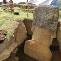 Back of statue RR-001-156 with emerging torso. © Easter Island Statue Project