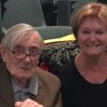 Jo Anne Van Tilburg with Jack Golson, at ANU.