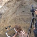 Greg Downing recording carving marks in Quarry 2 using RTI. © EISP.ORG 2013