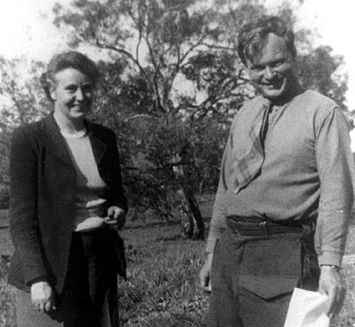 Eve Dray Stewart, who rescued Mana Expedition papers long lost, and her archaeologist husband James Stewart, 1960. (Photo courtesy Eve Dray Stewart.)