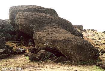 Moai Paro in situ. ©2002 EISP/JVT/Photos: J. Van Tilburg.