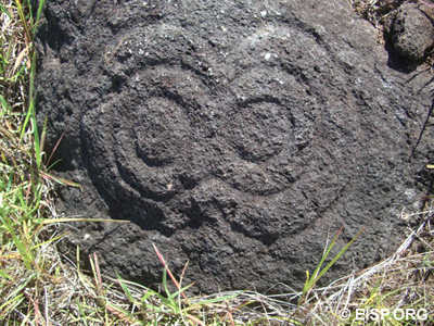 Makemake petroglyph in Quadrant 16. Photo: JVT
