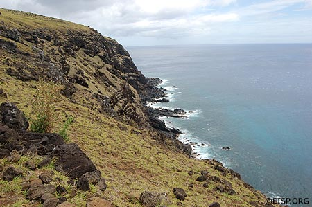 Northern coast of Easter Island. Photo by Audrey Kopp.