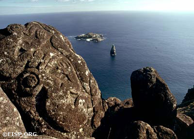 Orongo, Rapa Nui (Easter Island), 1989. Photo by: David C. Ochnser. copyright Jo Anne Van Tilburg/EISP.