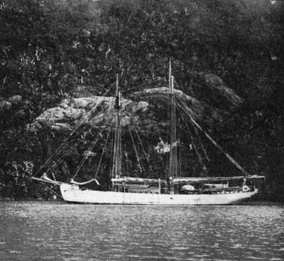 The yacht named Mana, used on the Mana Expedition. (Photo: Public domain image on file, EISP)