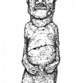 Figure 8 Drawing of statue MN-SAN-003 by Cristiàn Arèvalo Pakarati. © Easter Island Statue Project