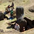 Overview of the excavation site in Rano Raraku interior.