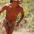 Rapa Nui man racing past our excavation site. © Easter Island Statue Project