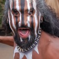 Rapa Nui man with body paint. © Easter Island Statue Project