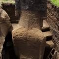 Moai RR-001-156 fully revealed during excavation, dorsal view. © EISP.ORG 2012
