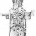 Moai RR-001-157, dorsal view with petroglyphs. © EISP.ORG 2012
