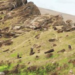 Overview of the interior slopes and quarries of Rano Raraku, mapped by EISP. ©2002 EISP/JVT